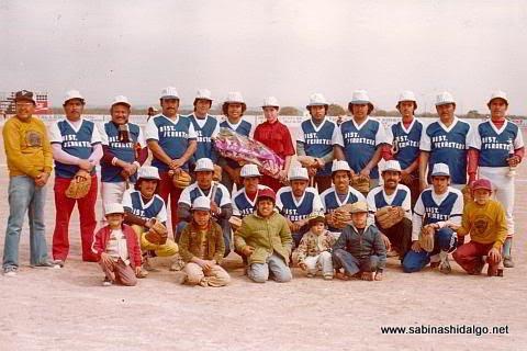 Equipo de beisbol Águilas de 1980, en el beisbol de Sabinas Hidalgo