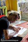 King designing a new tattoo