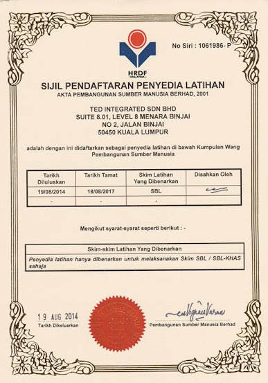 TED Integrated PSMB Certificate