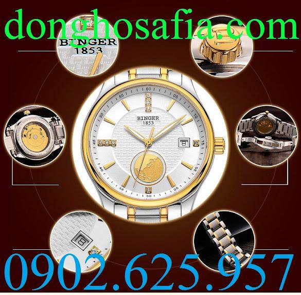 Đồng hồ nam cơ Binger B1105G BG009