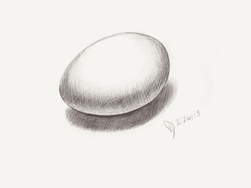 Egg drawn on an iPad