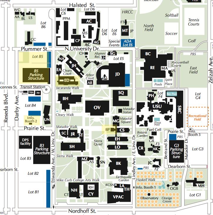 CSUN Map - NASA JPL CSUN PSTI
