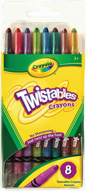 Bộ bút sáp 8 màu dạng vặn Twistable Crayons giúp bé tạo nên những bức tranh đầy màu sắc