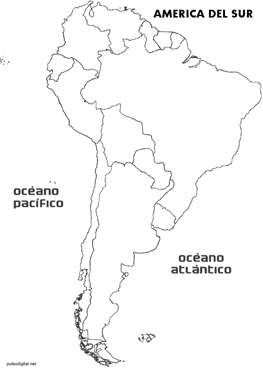 Mapa del continente americano sin nombres - Imagui
