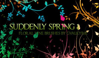 23 набора цветочных кистей для Фотошопа