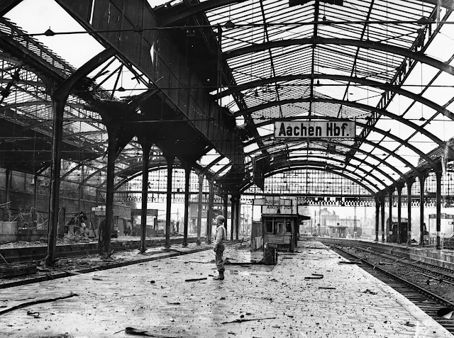 Aachen Railroad Station, 1945