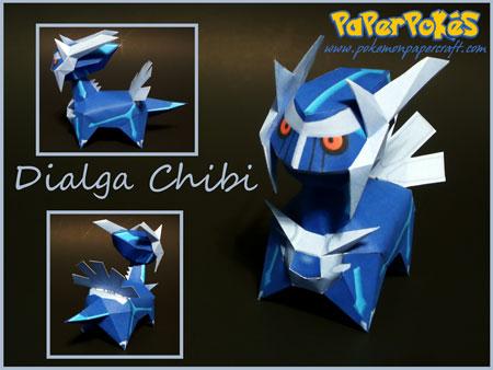 Chibi Dialga Papercraft