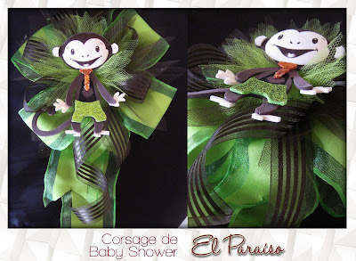 corsage babyshower changuito