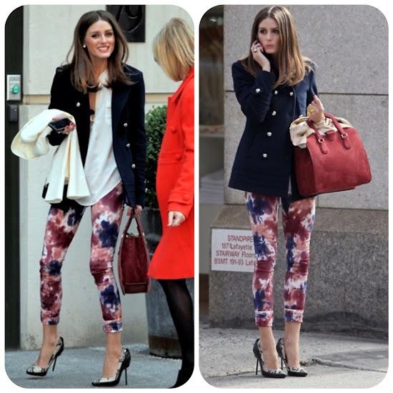 Olivia Palermo Style Fall Fashion Tips print pants