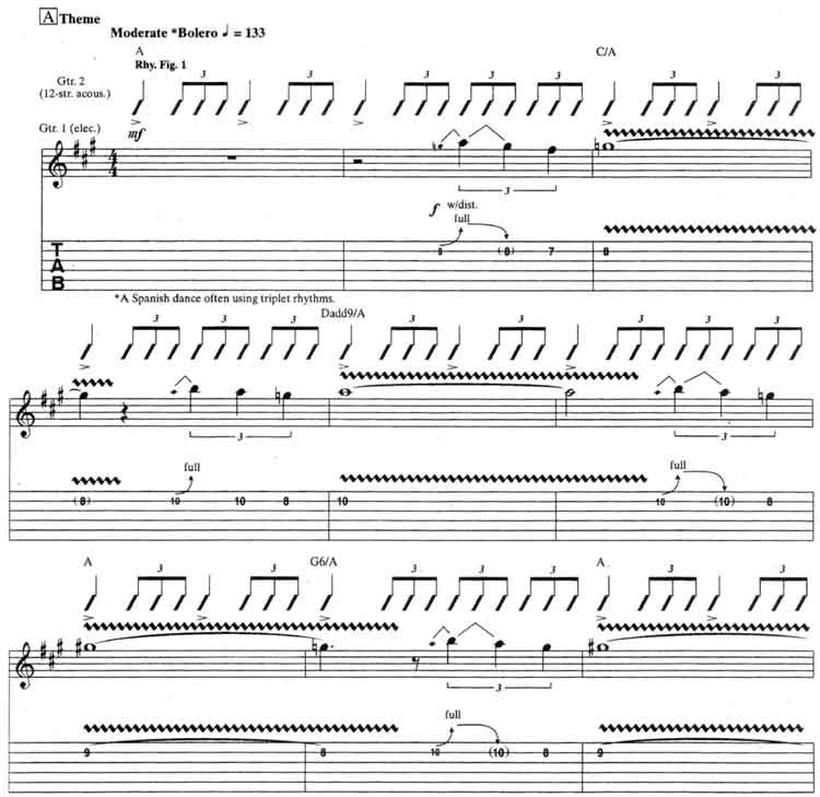 Jeff Beck - Beck's Bolero guitar tabs