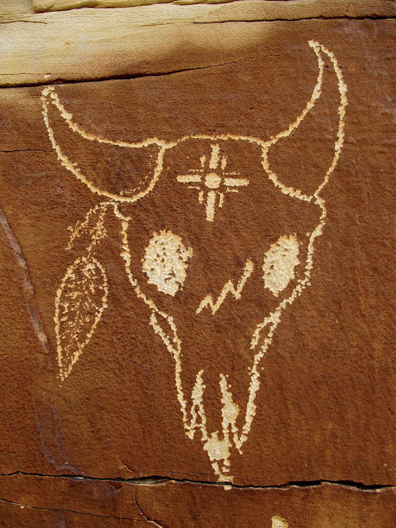Cowboy glyphs along the lower Price River