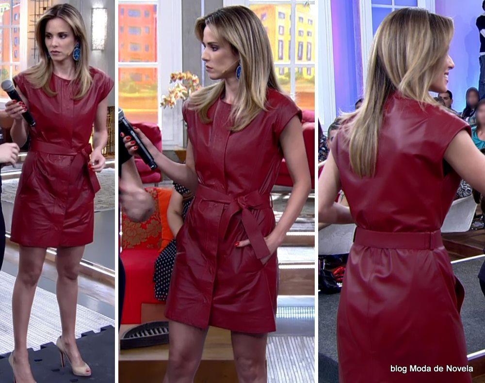 moda do programa Encontro - look da Ana Furtado dia 12 de maio