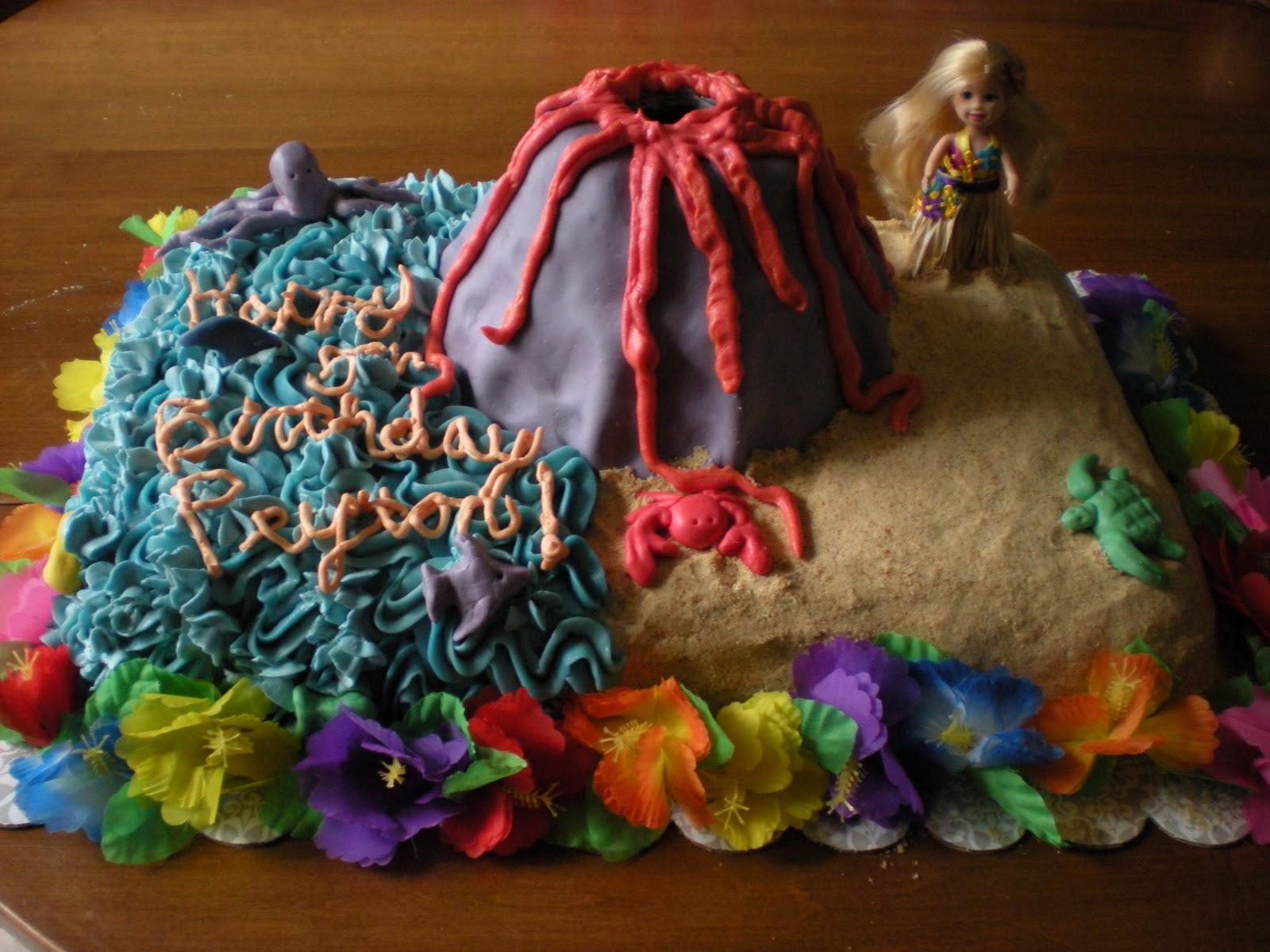 The Sprinkled Kitchen Hawaiian Volcano Birthday Cake