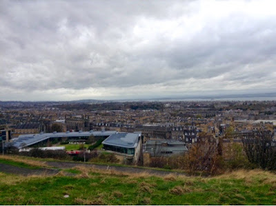 view of edinburgh city taken from calton hill