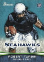 2012 Bowman Photo Variation Robert Turbin Rookie