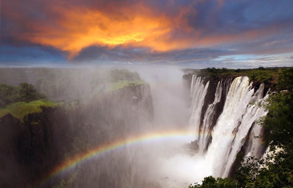Водопад Виктория, Зимбабве, Красивые водопады планеты
