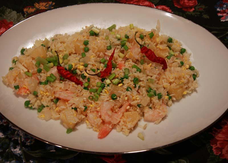 Bruce's Kitchen: Thai Pineapple--Shrimp Fried Rice