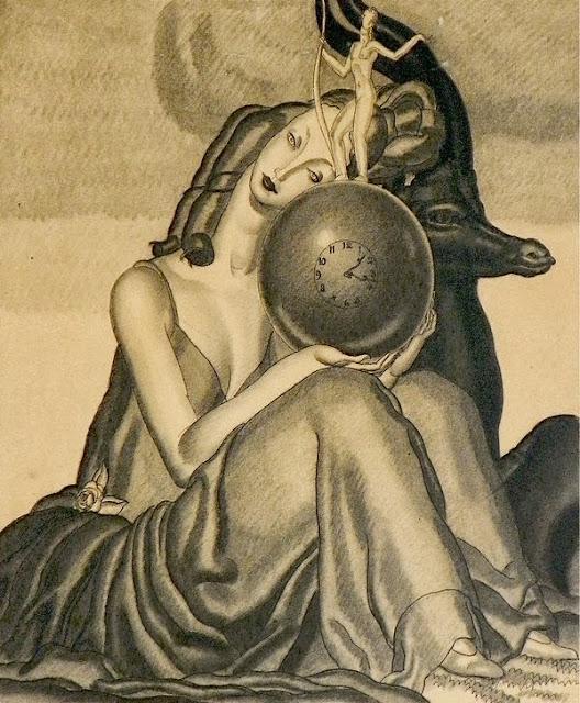 Jean Dupas - Original Art Deco drawing
