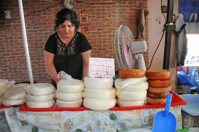 cheese at the tbilisi outdoor market
