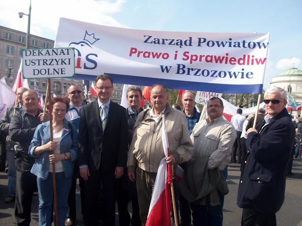 Warszawa 2012 Brzozowiacy na manifestacji