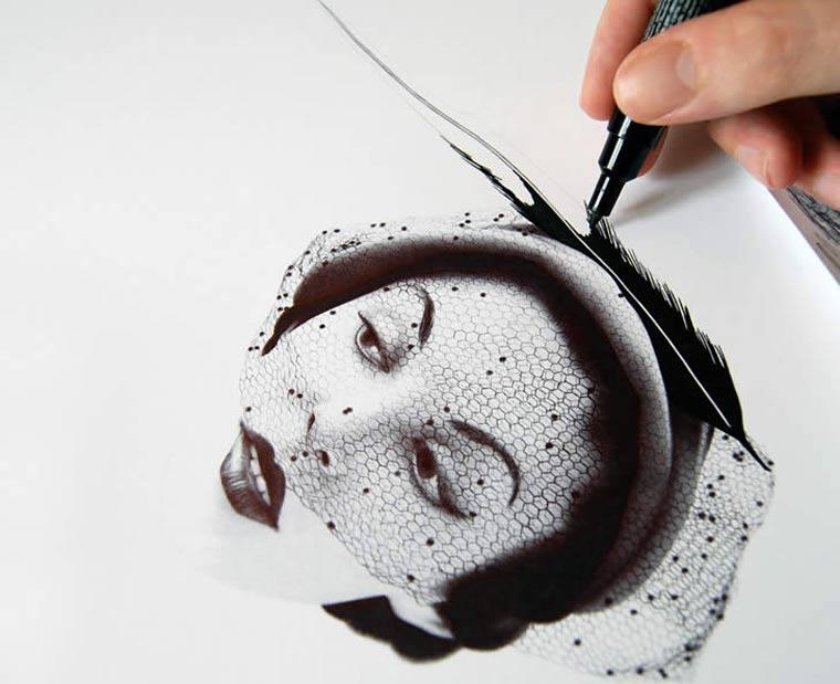 *藝術家James Mylne鋼珠原子筆名人寫真:栩栩如生! 7