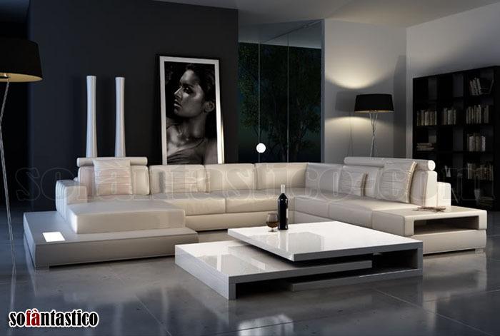 Divani Angolari Divano Angolare Moderno Pelle Sofa