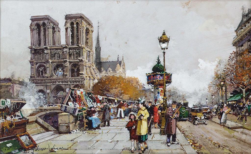 Eugène Galien-Laloue - Paris Notre-Dame vue du quai Saint-Michel