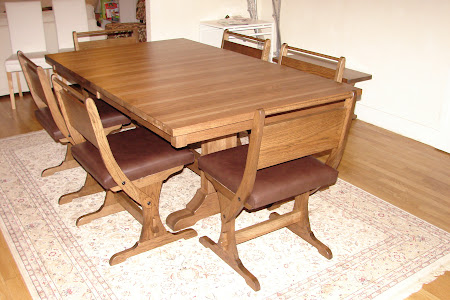 "70"" x 42"" Tuscany Dining Table, 40"" Tuscany Bench and Kessel Chairs in Oil & Wax Hickory"