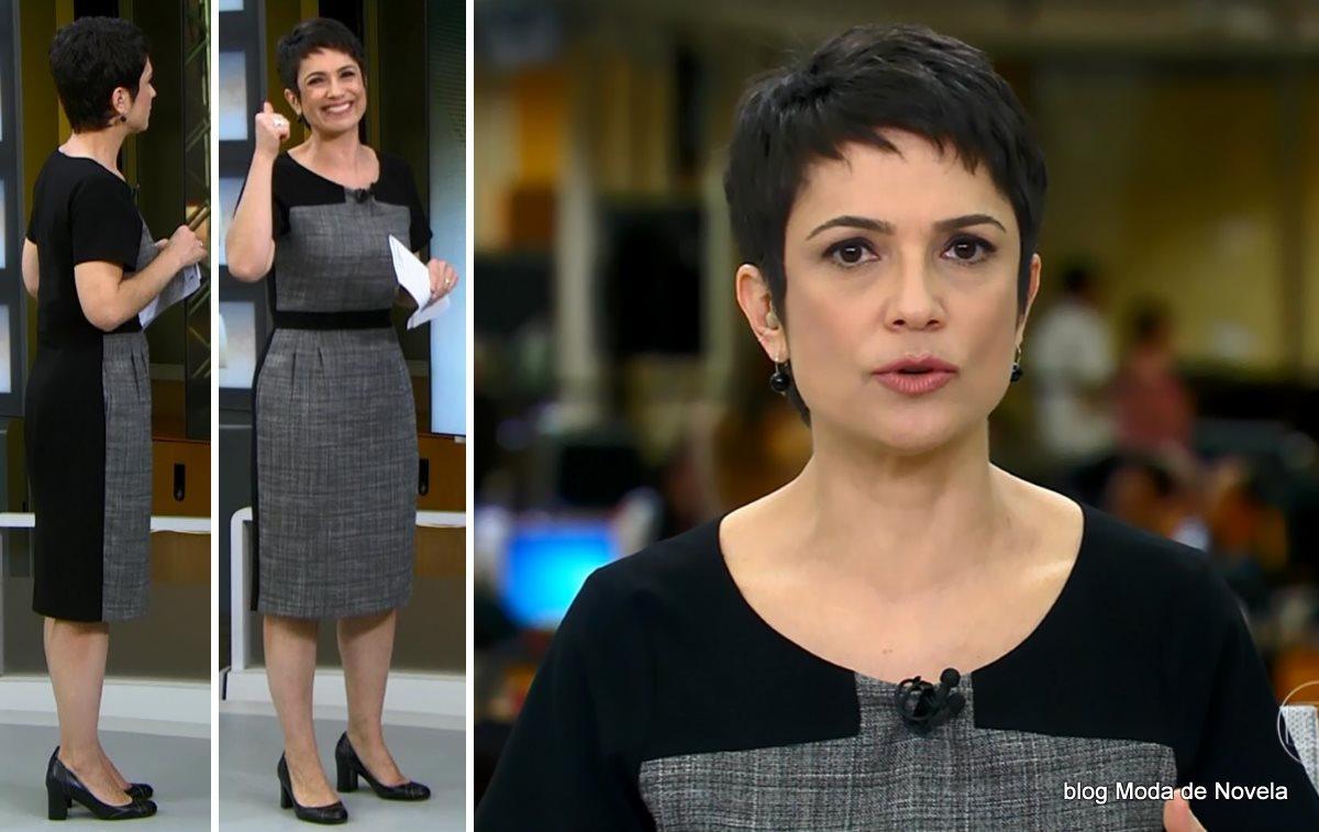 moda do programa Jornal Hoje - look da Sandra Annenberg dia 26 de junho