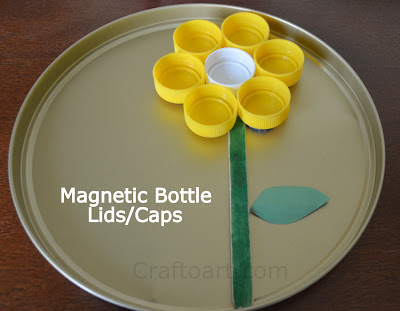 Magnetic Bottle lids Collage