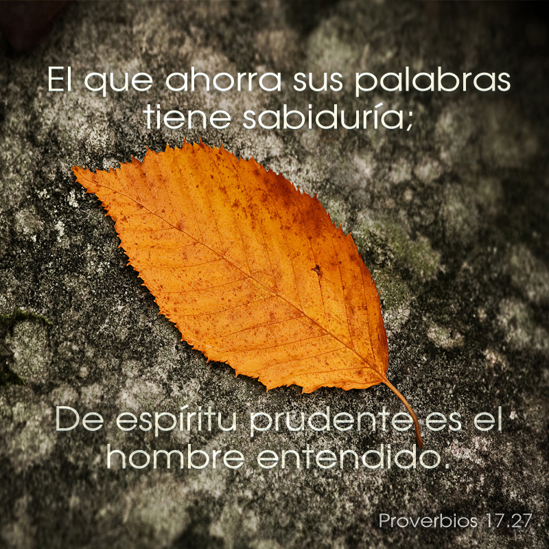 Proverbios 17.27