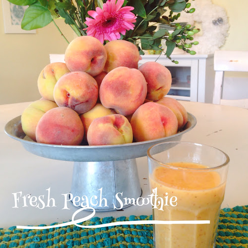 Cooking with the style sisters, peach smoothie, smoothies