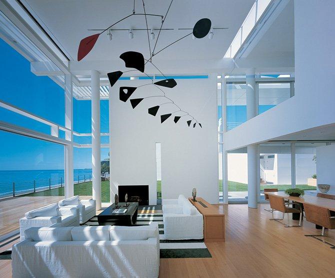 Ultra Minimal White Beach House modern design by moderndesignorg