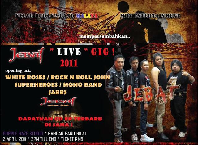 Event Jebat live Gig 2011