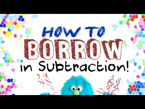 Image result for borrowing in subtraction mr. demaio