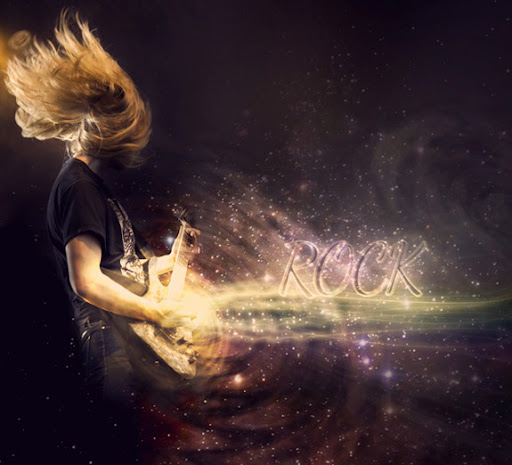 Design the Retro Futurism Photo Manipulation 'Cosmic Rocker'
