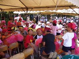 運動会の児童席