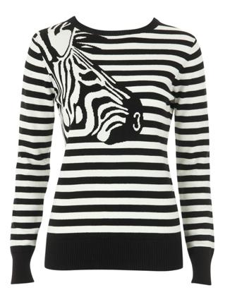 Louche Zavanna Zebra Intarsia Sweater