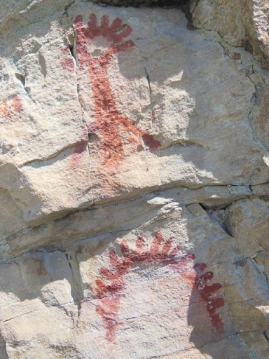 Pictographs, in Oliver, BC
