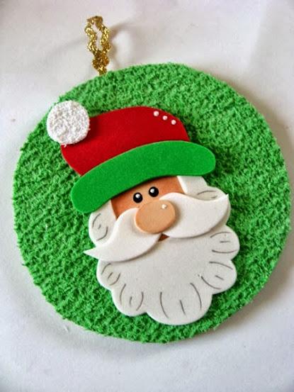 10 ideias de artesanato para o Natal Revista Artesanato -> Decoração Em Eva Natal