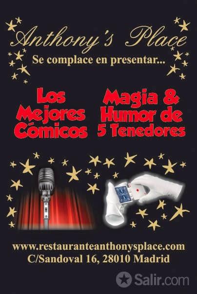 Cartel Magia y Humor de 5 Tenedores