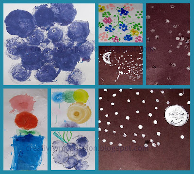 Lots of Dots - Balloon Painting and Q-tip Stamping