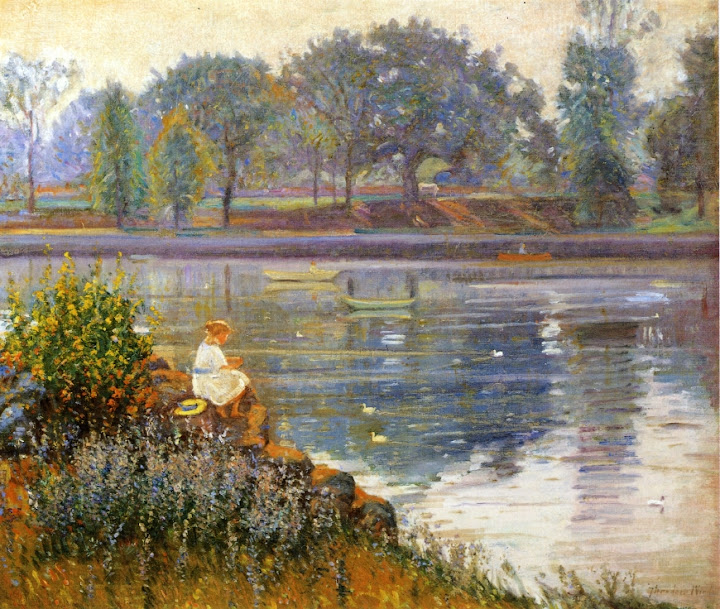 Theodore Wendel – Girl Seated by a Pond