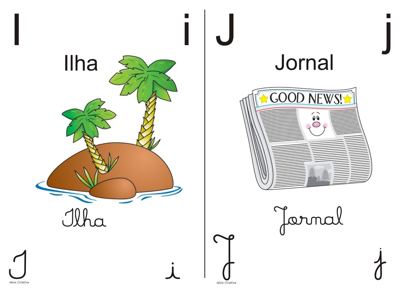 Alfabeto colorido para imprimir 1/2 oficio
