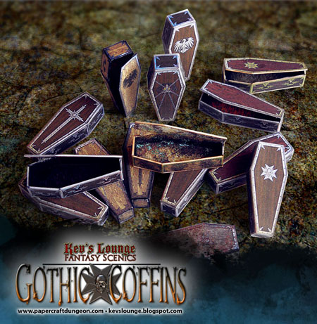 Gothic Coffin Papercraft