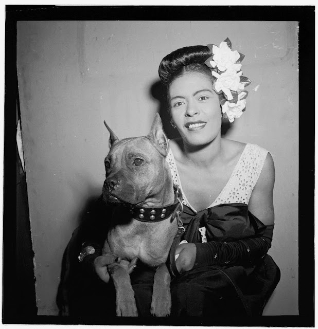 Billie Holiday and Mister close-up