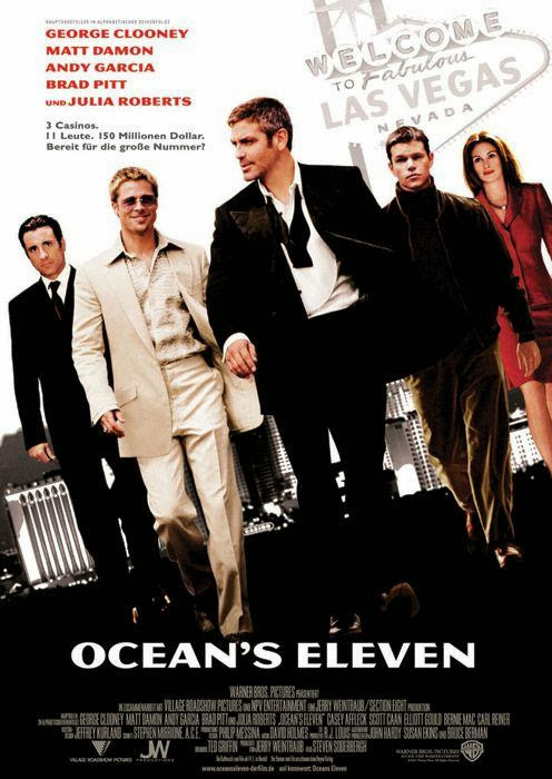 Poster Of Ocean's Eleven (2001) Full Movie Hindi Dubbed Free Download Watch Online At Alldownloads4u.Com