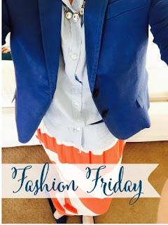 Red white striped skirt, fashion Friday