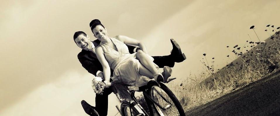 boda, bici, novios, vestido, reportaje