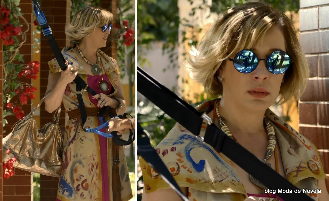 moda da novela Alto Astral, look da Samantha dia 18 de novembro
